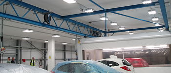 datum mf ceiling spray booth finished leeds