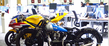 datum fit out strengthened flooring for motorbikes office dudley fusion