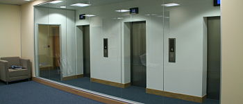 datum office fit out finished glass partitioning glasgow trs